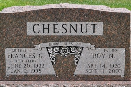 CHESNUT, FRANCES G. (SCHILLER) - Grundy County, Iowa | FRANCES G. (SCHILLER) CHESNUT