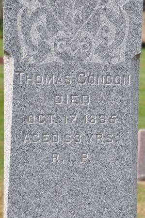 CONDON, THOMAS - Grundy County, Iowa   THOMAS CONDON