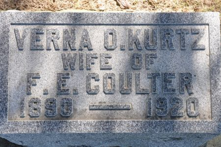 COULTER, VERNA O. (KURTZ) - Grundy County, Iowa | VERNA O. (KURTZ) COULTER