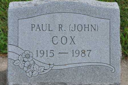 COX, PAUL R. - Grundy County, Iowa | PAUL R. COX