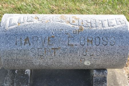 CROSS, LUCY E. (LIGHTER) - Grundy County, Iowa   LUCY E. (LIGHTER) CROSS