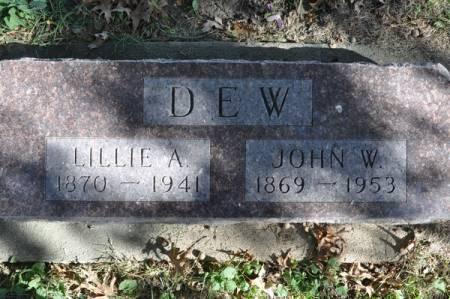 DEW, JOHN W. - Grundy County, Iowa   JOHN W. DEW