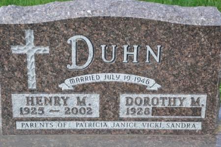 DUHN, HENRY M. - Grundy County, Iowa | HENRY M. DUHN