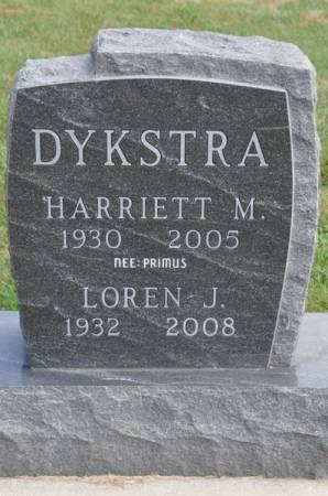 DYKSTRA, HARRIETT M. (PRIMUS) - Grundy County, Iowa | HARRIETT M. (PRIMUS) DYKSTRA