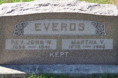 EVERDS, MARTHA V. - Grundy County, Iowa | MARTHA V. EVERDS