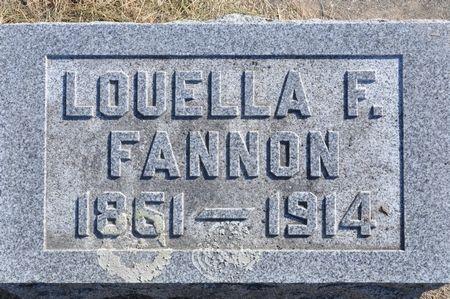 FANNON, LOUELLA F. - Grundy County, Iowa | LOUELLA F. FANNON