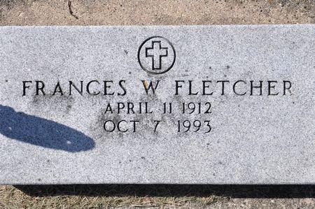 FLETCHER, FRANCES W. - Grundy County, Iowa | FRANCES W. FLETCHER