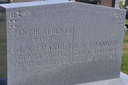 FRANKEN, ANTJE (ALBERTS) - Grundy County, Iowa   ANTJE (ALBERTS) FRANKEN