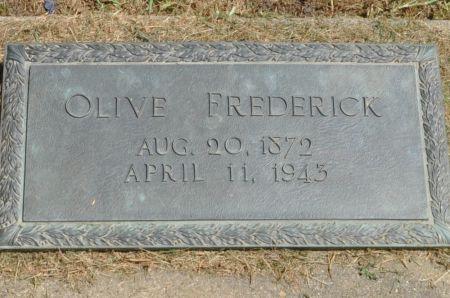 FREDERICK, OLIVE - Grundy County, Iowa | OLIVE FREDERICK
