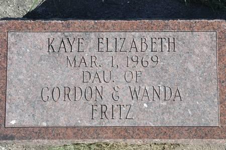 FRITZ, KAYE ELIZABETH - Grundy County, Iowa | KAYE ELIZABETH FRITZ