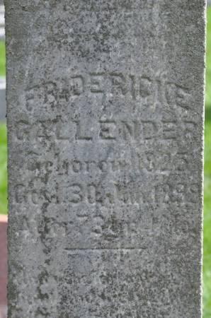 GALLENDER, FRIDERICKE - Grundy County, Iowa | FRIDERICKE GALLENDER