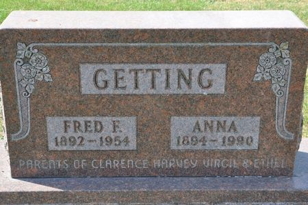 GETTING, ANNA - Grundy County, Iowa | ANNA GETTING