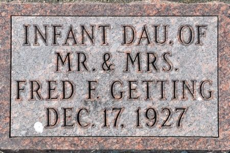 GETTING, INFANT DAUGHTER OF MR. & MRS. FRED F. - Grundy County, Iowa | INFANT DAUGHTER OF MR. & MRS. FRED F. GETTING