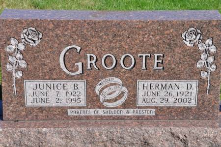 GROOTE, HERMAN D. - Grundy County, Iowa | HERMAN D. GROOTE
