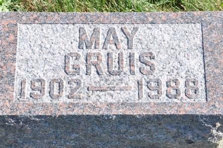GRUIS, MAY - Grundy County, Iowa   MAY GRUIS