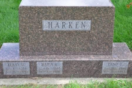 HARKEN, ENNO U. - Grundy County, Iowa | ENNO U. HARKEN