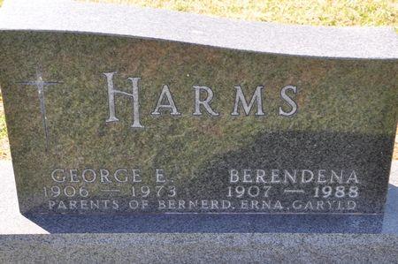 HARMS, GEORGE E. - Grundy County, Iowa   GEORGE E. HARMS