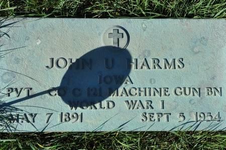HARMS, JOHN U. - Grundy County, Iowa | JOHN U. HARMS