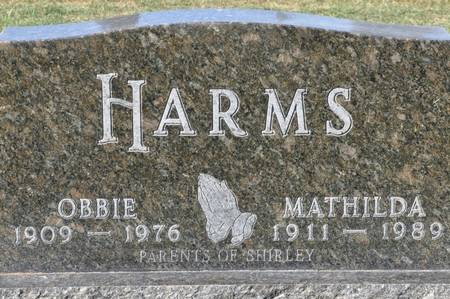HARMS, MATHILDA - Grundy County, Iowa   MATHILDA HARMS