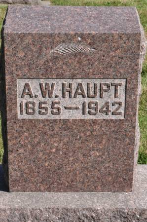 HAUPT, A. W. - Grundy County, Iowa   A. W. HAUPT