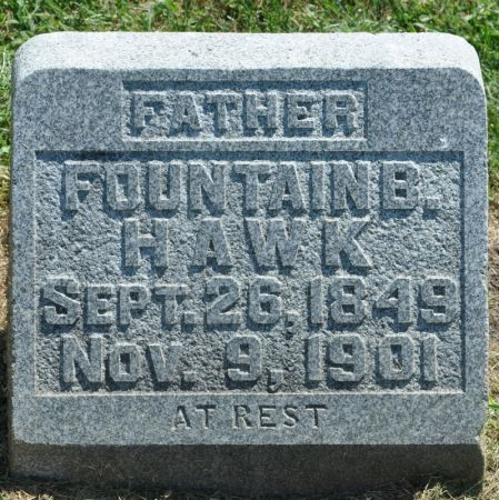 HAWK, FOUNTAIN B. - Grundy County, Iowa   FOUNTAIN B. HAWK