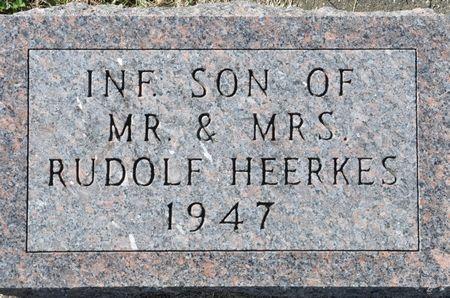 HEERKES, INFANT SON OF MR. & MRS. RUDOLF - Grundy County, Iowa | INFANT SON OF MR. & MRS. RUDOLF HEERKES