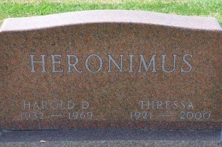 HERONIMUS, HAROLD D. - Grundy County, Iowa   HAROLD D. HERONIMUS