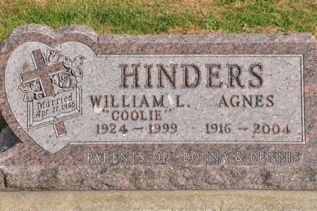 HINDERS, AGNES - Grundy County, Iowa | AGNES HINDERS