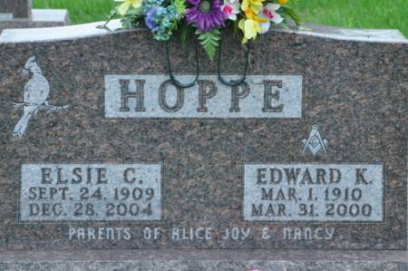 HOPPE, EDWARD K. - Grundy County, Iowa | EDWARD K. HOPPE
