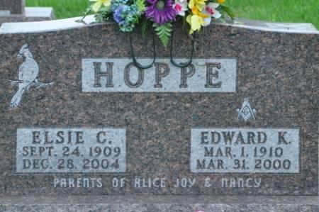 HOPPE, ELSIE C. (STORJOHANN) - Grundy County, Iowa | ELSIE C. (STORJOHANN) HOPPE