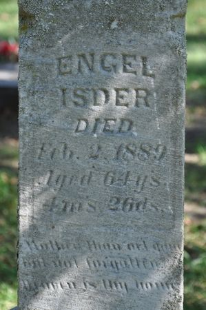 ISDER, ENGEL - Grundy County, Iowa | ENGEL ISDER