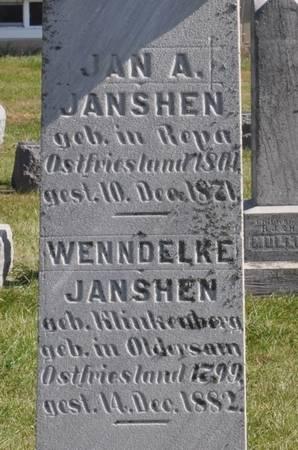 JANSHEN, JAN A. - Grundy County, Iowa | JAN A. JANSHEN