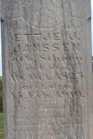 JANSSEN, ETTJE J. (SCHOON) - Grundy County, Iowa | ETTJE J. (SCHOON) JANSSEN