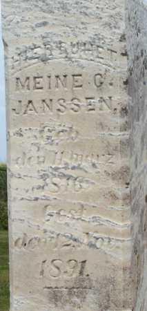 JANSSEN, MEINE - Grundy County, Iowa | MEINE JANSSEN