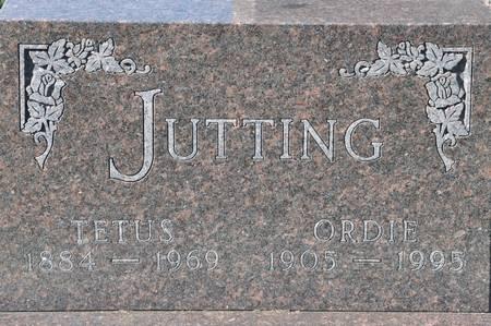 JUTTING, ORDIE - Grundy County, Iowa   ORDIE JUTTING