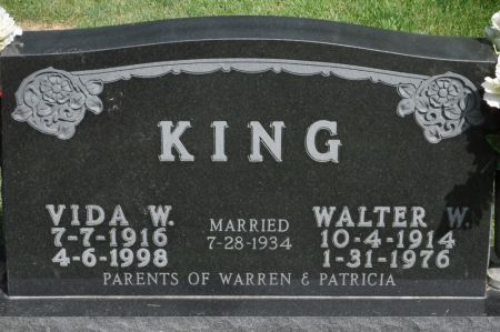 KING, VIDA W. - Grundy County, Iowa | VIDA W. KING