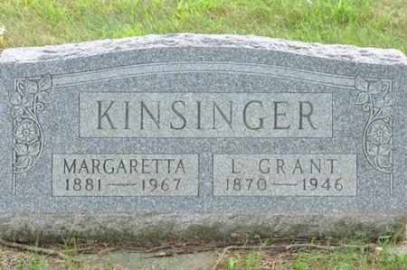 KINSINGER, MARGARETTA - Grundy County, Iowa   MARGARETTA KINSINGER