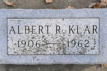 KLAR, ALBERT R. - Grundy County, Iowa   ALBERT R. KLAR