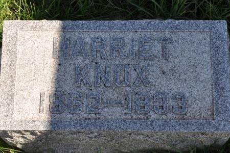 KNOX, HARRIET - Grundy County, Iowa | HARRIET KNOX