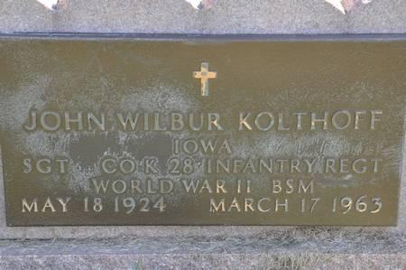 KOLTHOFF, JOHN WILBUR - Grundy County, Iowa | JOHN WILBUR KOLTHOFF