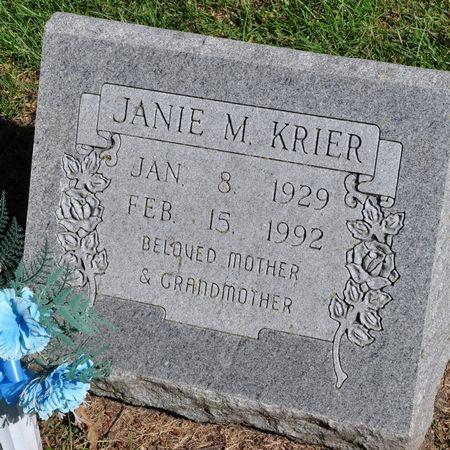 KRIER, JANIE M. - Grundy County, Iowa   JANIE M. KRIER