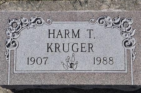 KRUGER, HARM T. - Grundy County, Iowa   HARM T. KRUGER