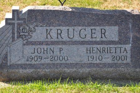 KRUGER, HENRIETTA - Grundy County, Iowa | HENRIETTA KRUGER