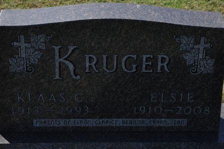 KRUGER, ELSIE - Grundy County, Iowa | ELSIE KRUGER