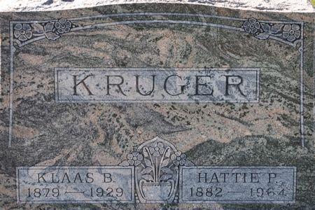 KRUGER, KLAAS B. - Grundy County, Iowa | KLAAS B. KRUGER