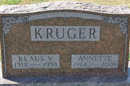 KRUGER, ANNETTE - Grundy County, Iowa | ANNETTE KRUGER