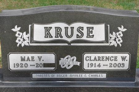 KRUSE, CLARENCE W. - Grundy County, Iowa   CLARENCE W. KRUSE