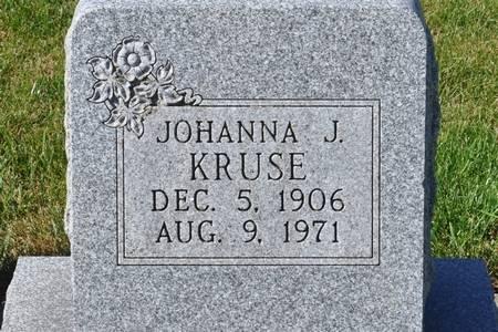 KRUSE, JOHANNA J. - Grundy County, Iowa   JOHANNA J. KRUSE