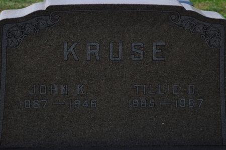 KRUSE, TILLIE D. - Grundy County, Iowa | TILLIE D. KRUSE