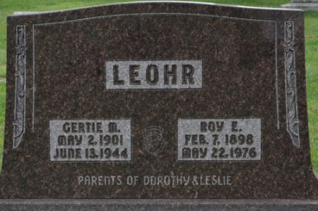 LEOHR, ROY E. - Grundy County, Iowa   ROY E. LEOHR